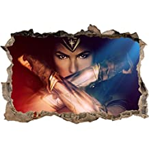Wonder Woman Movie Smashed Wall Decal Wall Sticker Home Decor Art Mural H908, Mini