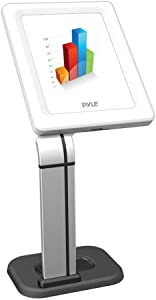 Anti-Theft Tablet Security Stand Kiosk - Desktop Desk Table Mount Tablet Case Holder w/ Lock, Adjustable Clamp Arm, Internal Cable Routing, For iPad 2, 3, 4, Samsung, Android Tablets - Pyle PSPADLK14