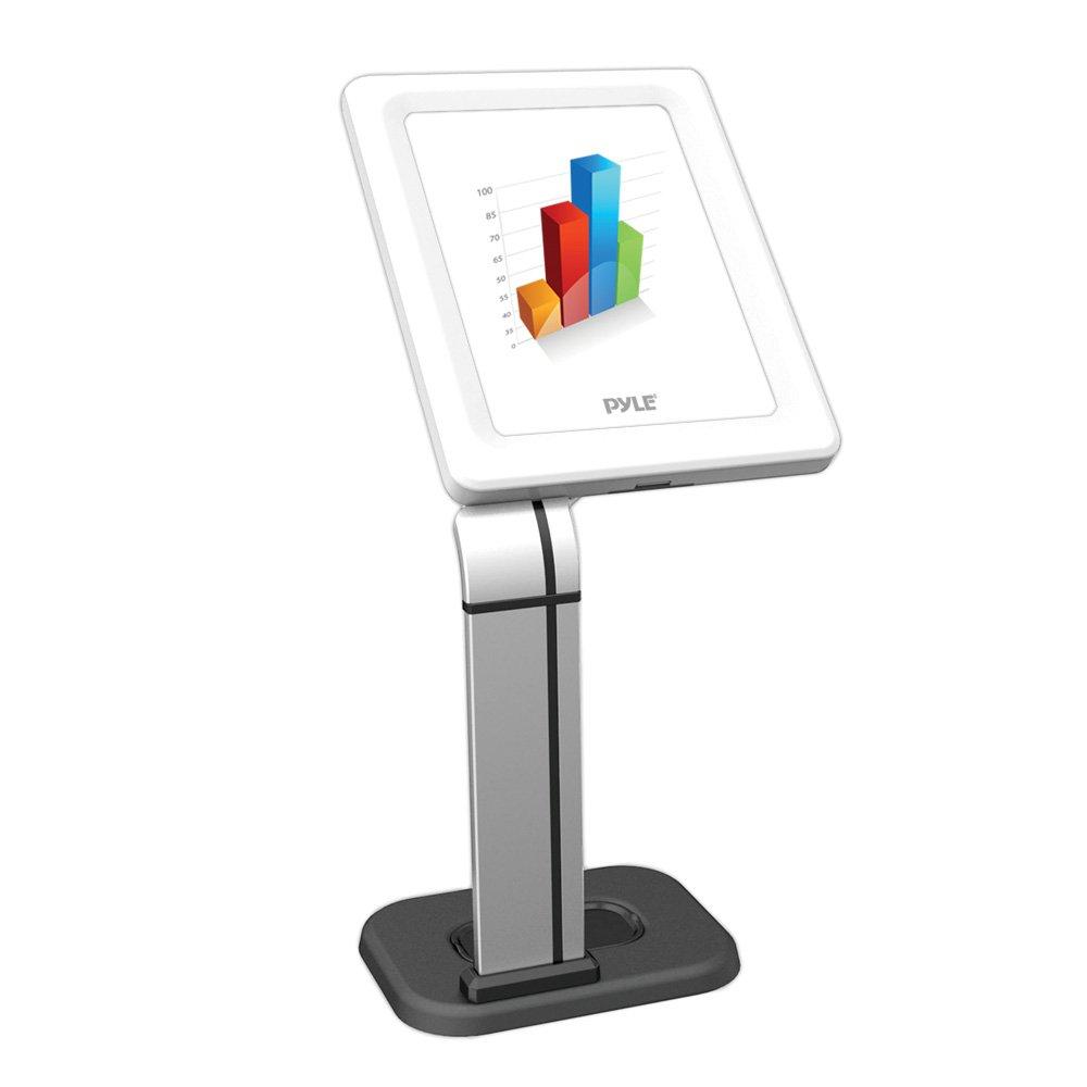 Pyle PMKSPADLK48 Anti-Theft Adjustable Tablet Security Stand Heavy Duty Aluminum Metal Floor Standing Kiosk Mount Tablet Case Holder Display w// 42.75 Inch Pole For iPad 2 3 4 Air Air2 Tablets