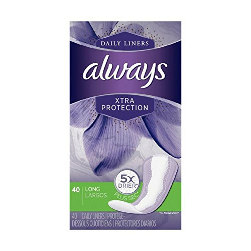 Always Dailies Xtra Protection Long Liners 40 ea (Pack of 10)
