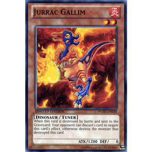 WGRT-EN038 Jurrac Gallim Limited Edition Mint YuGiOh Card
