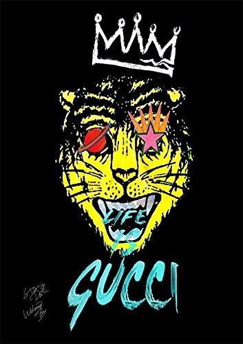 Canvas Poster グッチ Real Gucci キャンバスポスター オマージュアート インテリア #wb24 STAR DESIGN A2サイズ(420×594mm) B079GW3MSYA2(420×594mm)