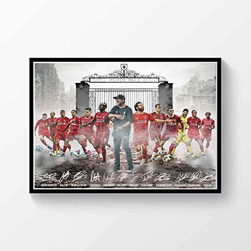 Liverpool FC 2019//20 Premier League Champions Autographed Poster Print