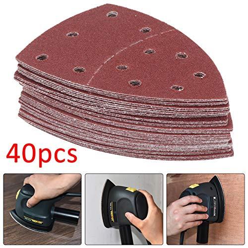 ZesGood 60PCS Sanding Sheets Coarse to Fine Hook and Loop Mouse Sander Pads Sander Paper for Multi-Sanders,10Pcs Each Assorted 40//60//80//120//180//240 Grits Including All grit Grades