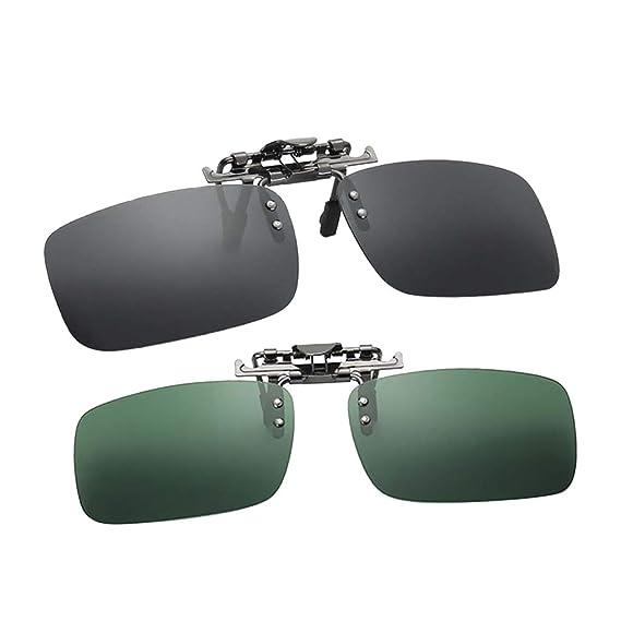 P Prettyia 2 Piezas Gafas de Sol con Clip Polarizado UV 400 ...