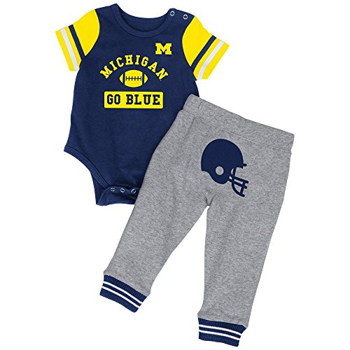 Infant NCAA Michigan Wolverines Onesie and Pants Set (Team Color) - 6 to 12 Months (Michigan Wolverine Pants)