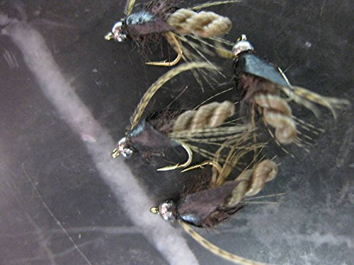Caddis Pupa Bead (Fishing Sport Eq. BEAD HEAD CADDIS TROUT PUPA NYMPH TAN # 18 FLY FISHING FLIES, FLY FISHING LURES STRONG FISHING HOOK FLIES)