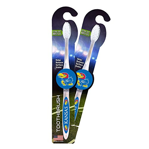 NCAA Kansas Jayhawks Toothbrushes, 2-1-packs