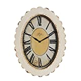 NIKKY HOME Paris Flower Wall Clock, 13-3/8'' x 2-3/4'' x 18-1/8'', Off-White