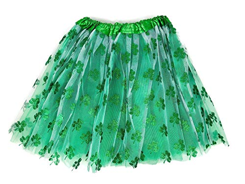 Women's Green Tutu w Shamrocks