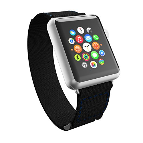 Incipio Smartwatch Replacement Band for Apple Watch 38mm - Black/Navy Stitching
