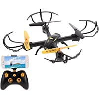 Goolsky YIDAJIA D61WG RC Quadcopter Drone with 480P Camera,Wifi FPV, Altitude Hold Function,Headless Mode and One Key Return Home