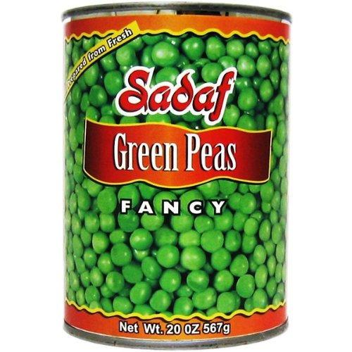Sadaf Green Peas, Fancy, 20-Ounce (Pack of 8)