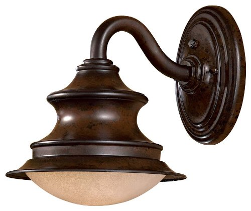 Minka Outdoor 8121-A188-PL, Vanira Place Dark Sky Outdoor Wall Sconce Lighting, 13 Watts CFL, - Great Vanira Outdoors Place