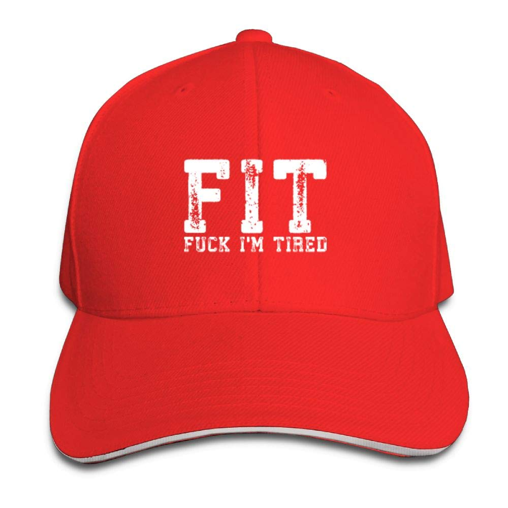 BUSEOTR FIT Fuck Im Tired Baseball Caps Adjustable Back Strap Flat Hat