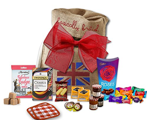 The Great British High Tea Hamper by The Yummy Palette | Twinings Classic Selection 20 Tea Bags British Food Brunch Tea Gift Set in Basically British Gift Bag