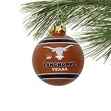 Texas Longhorns Official NCAA 3' Glass Ball Christmas Ornament