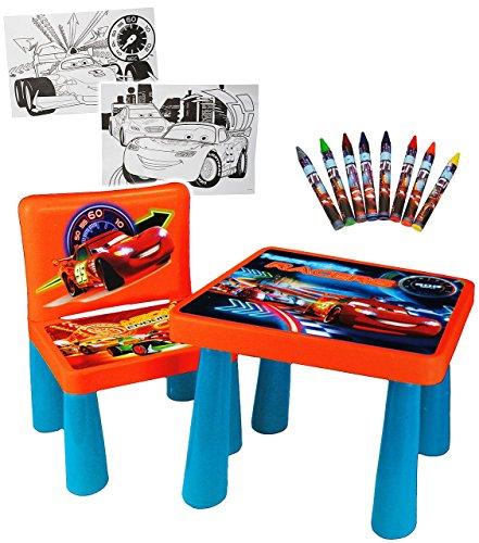 Set _ Tisch & Stuhl - incl. Malvorlagen + Stifte -