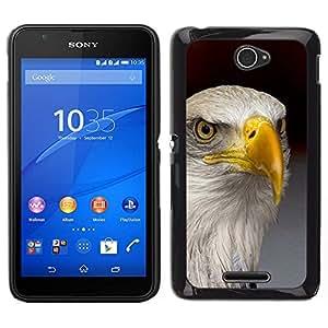 EJOY---Cubierta de la caja de protección para la piel dura ** Sony Xperia E4 ** --águila América del oro nacional la libertad de aves