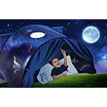 Dream Bed Tents Kids Playhouse,Yearmall Pop Up Magical Fairy World Princess Castle Play Tents, Newest Design Festival Private A Fun Comforting Space At Night Twin Size(Outer Space)