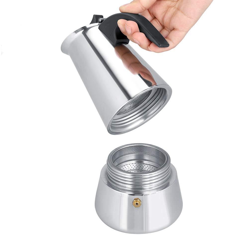 Lecxin Cafetera, cafetera portátil de Acero Inoxidable Cafetera ...