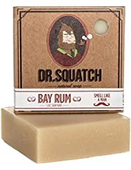 Bay Rum Soap by Dr. Squatch – Men's Naturally Fresh Scented Natural Bar Soap with Bay Rum, Kaolin Clay, Shea Butter – Organic Handmade in USA