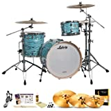 Ludwig USA LK7243KXTQ Turquoister 3-Pc Shell Pack w/ Accessories, Bass Pedal & Zildjian KCH390 Cymbals