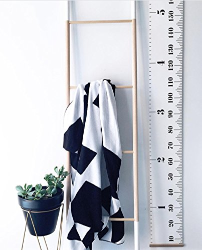 (Comfysail Portable Roll-Up Children'S Height Measure Chart Durable Canvas Ruler Photo Height Chart Great for Measures from Birth to Adult,200 x 20cm)