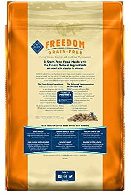 Blue Buffalo Large Breed Freedom Grain Free Chicken Recipe Dry Dog Food, 24-Pound from Blue Buffalo Company*