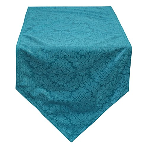 Teal Table Runners For Wedding & Party 14x48 inch - By The White - Petals Teal