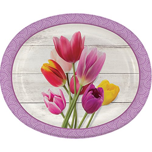 Beautiful Blossoms Floral Oval Plates, 24 (Oval Blossom)