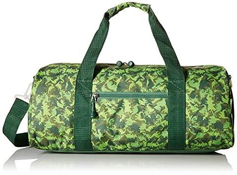 Bixbee Dino Camo Duffel Bag, Camouflage Green, Large