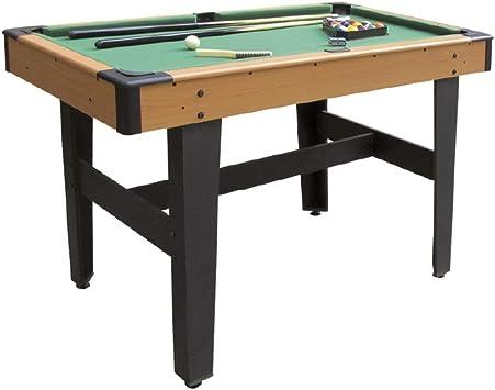 Devessport - Mesa de Billar para niños - Fácil montaje - Patas unidas para mayor estabilidad - Incluye niveladores de patas - Ideal para jugar con amigos - Medidas: 121.5 x 64.5 x 78 Cm: Amazon.es: Juguetes y juegos