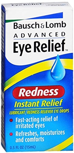 Bausch & Lomb Advanced Eye Relief Redness Instant Relief Eye Drops 0.50 oz (Pack of 11)