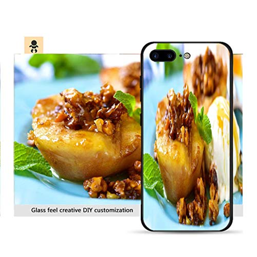 iPhone 7p / 8p Ultra-Thin Phone case Grilled pear with caramelized Walnuts and Honey Resistance to Falling, Non-Slip, Soft, Convenient Protective case