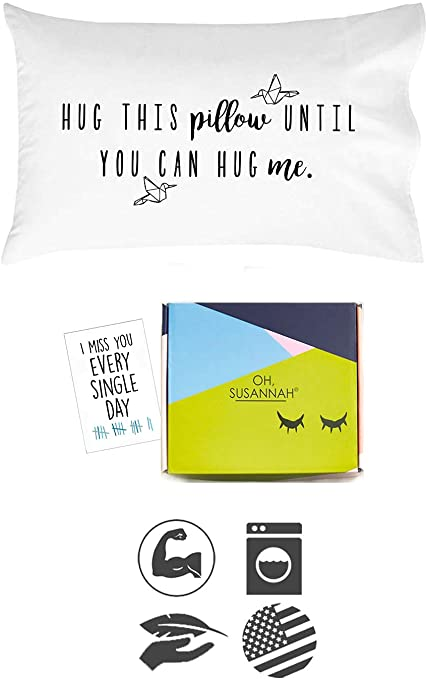 Hug This Pillow Until You Can Hug Me - Meaningful, Cute Gift