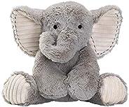 Lambs & Ivy Jungle Safari Gray Plush Elephant Stuffed Animal Toy -