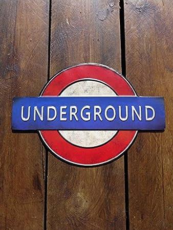 Vintage puerta signo cartel del Transporte Tubo de metro de ...