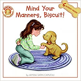 Mind Your Manners >> Mind Your Manners Biscuit Alyssa Satin Capucilli Pat
