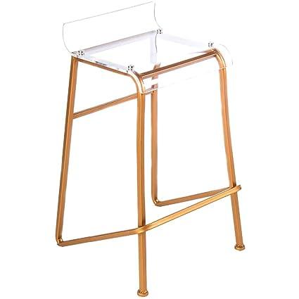 Superb Amazon Com Rose Gold Bar Stools 27 Clear Acrylic Barstool Inzonedesignstudio Interior Chair Design Inzonedesignstudiocom