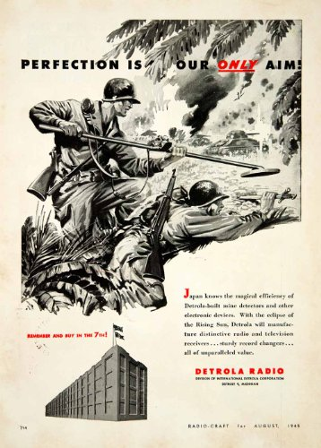 1945-ad-detrol-international-radio-communication-world-war-ii-soldier-metal-tank-original-print-ad