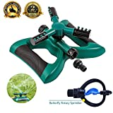 Lawn Sprinkler Automatic Sprinklers For Garden 360 Rotating Sprinklers Water Sprinklers For Lawns Irrigation System Oscillating Rotary High Impact Sprinkler System With Leak Free Design Durable