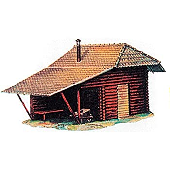 Model Power HO Scale Building Kit - Hunters Log Cabin