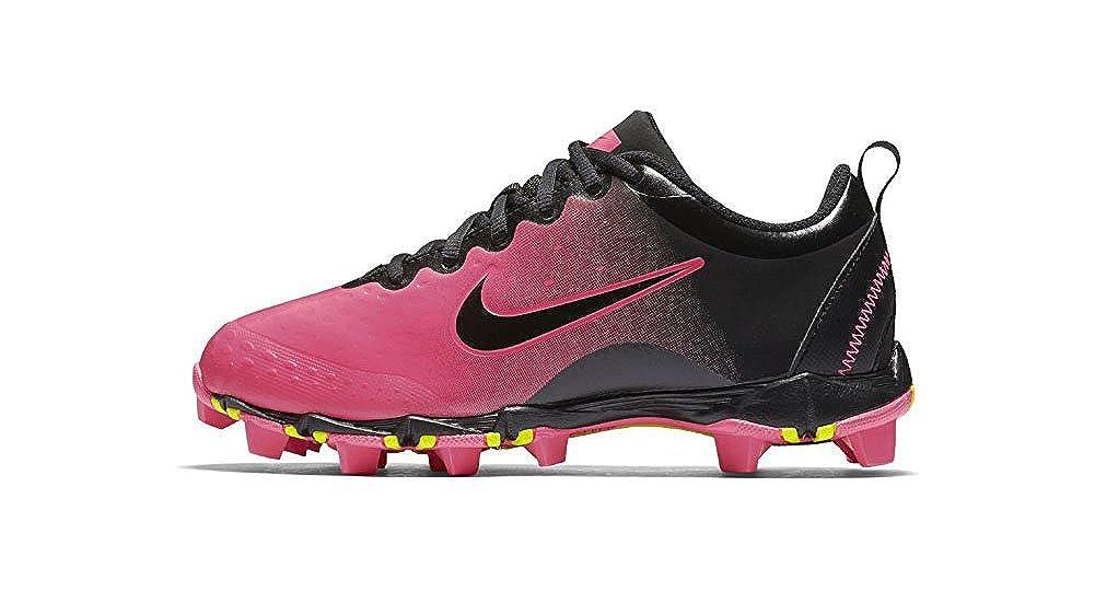 Nike Kids' Hyperdiamond 2 Keystone Softball Cleat,schwarz Rosa,10K