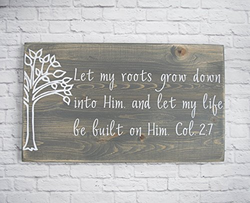 Christian Wood Sign – Bible Verse Wall Art - Wood Wall Décor - Christian Wall Plaque by Schafer Art Studio
