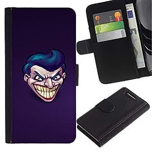 UNIQCASE - Sony Xperia Z1 Compact D5503 - Evil Joker Grin - Cuero PU Delgado caso cubierta Shell Armor Funda Case Cover