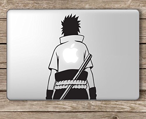 Uchiha Sasuke Apple on Back Naruto - Apple Macbook Laptop Vi
