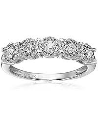 10k White Gold 0.50 cttw Diamond Anniversary Ring