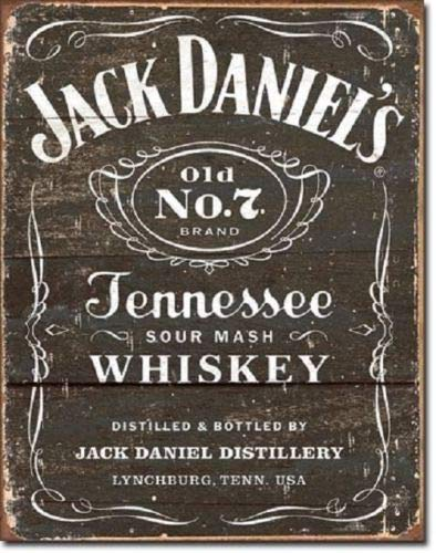 (ShopForAllYou Vintage Decor Signs Jack Daniel's Tennessee Whiskey Weathered Woodcut Logo Decor Metal Tin Sign)