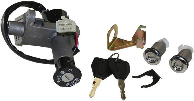 Schlossset 4 Polig Z/ündschloss Handschuhfach Sitzbank Baotian Rex MKS China Roller 50 150ccm